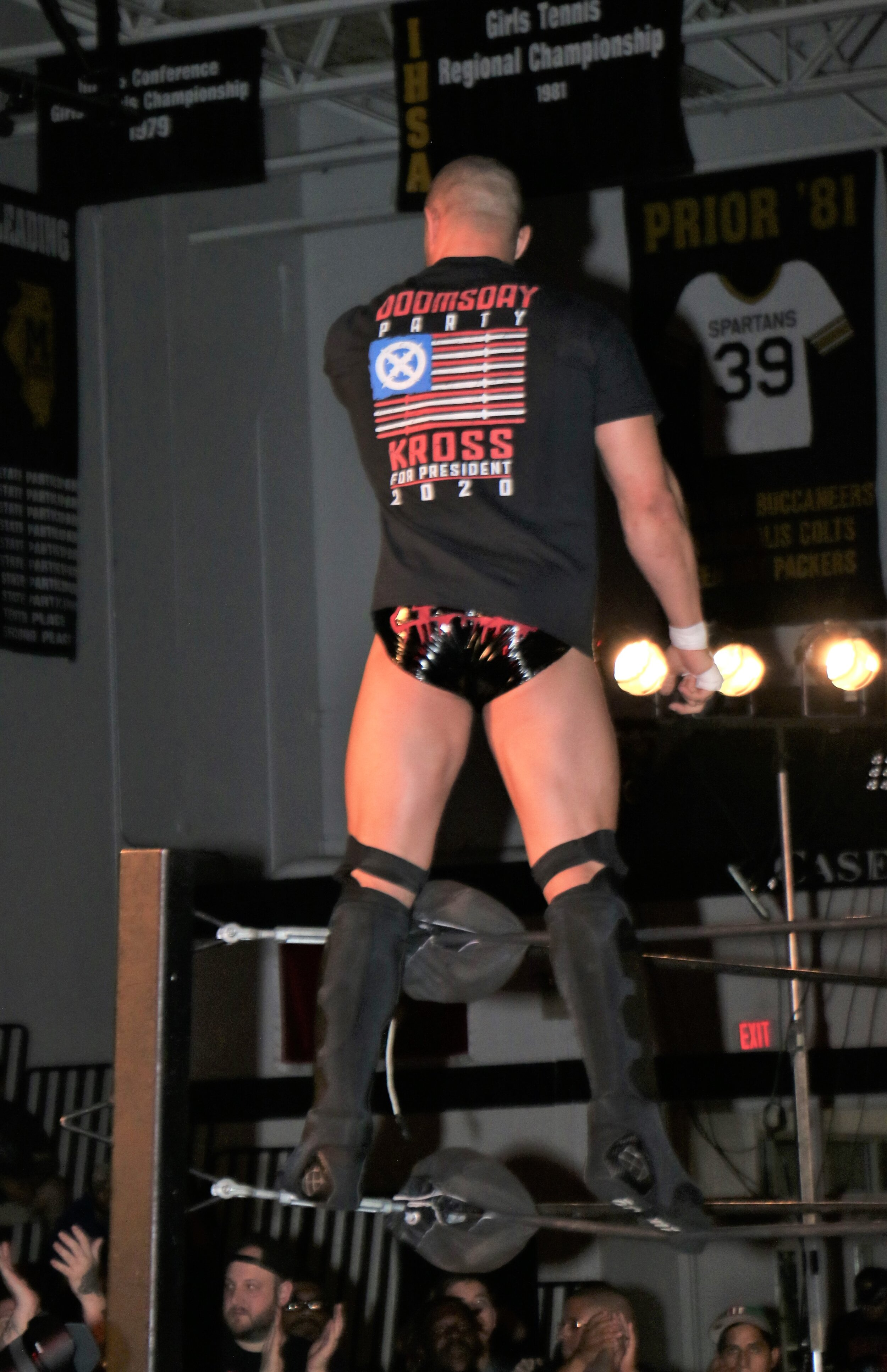 Killer Kross enters the ring.