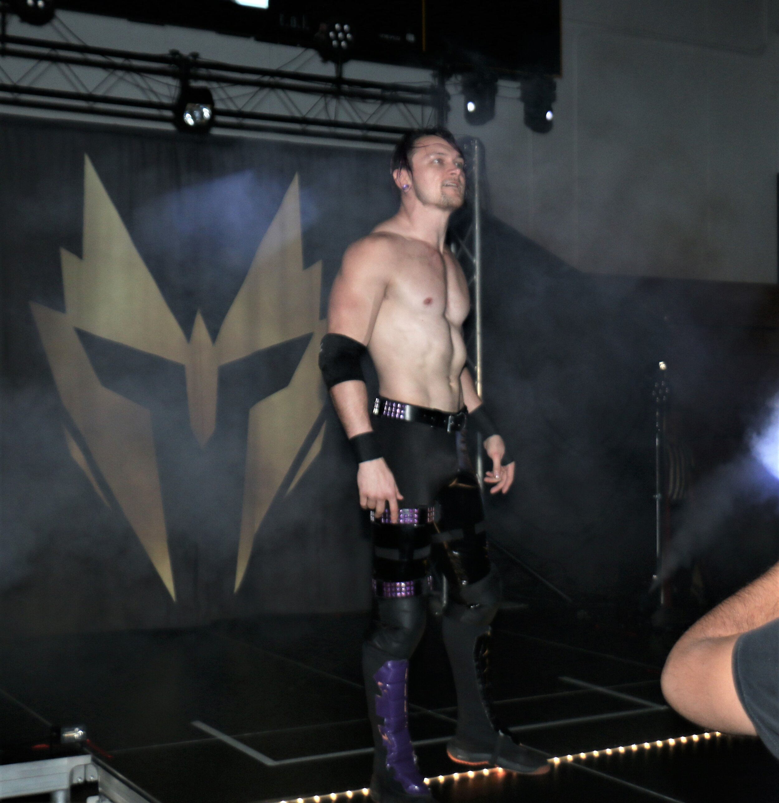Alex Zayne comes out for his match against Lance Archer.
