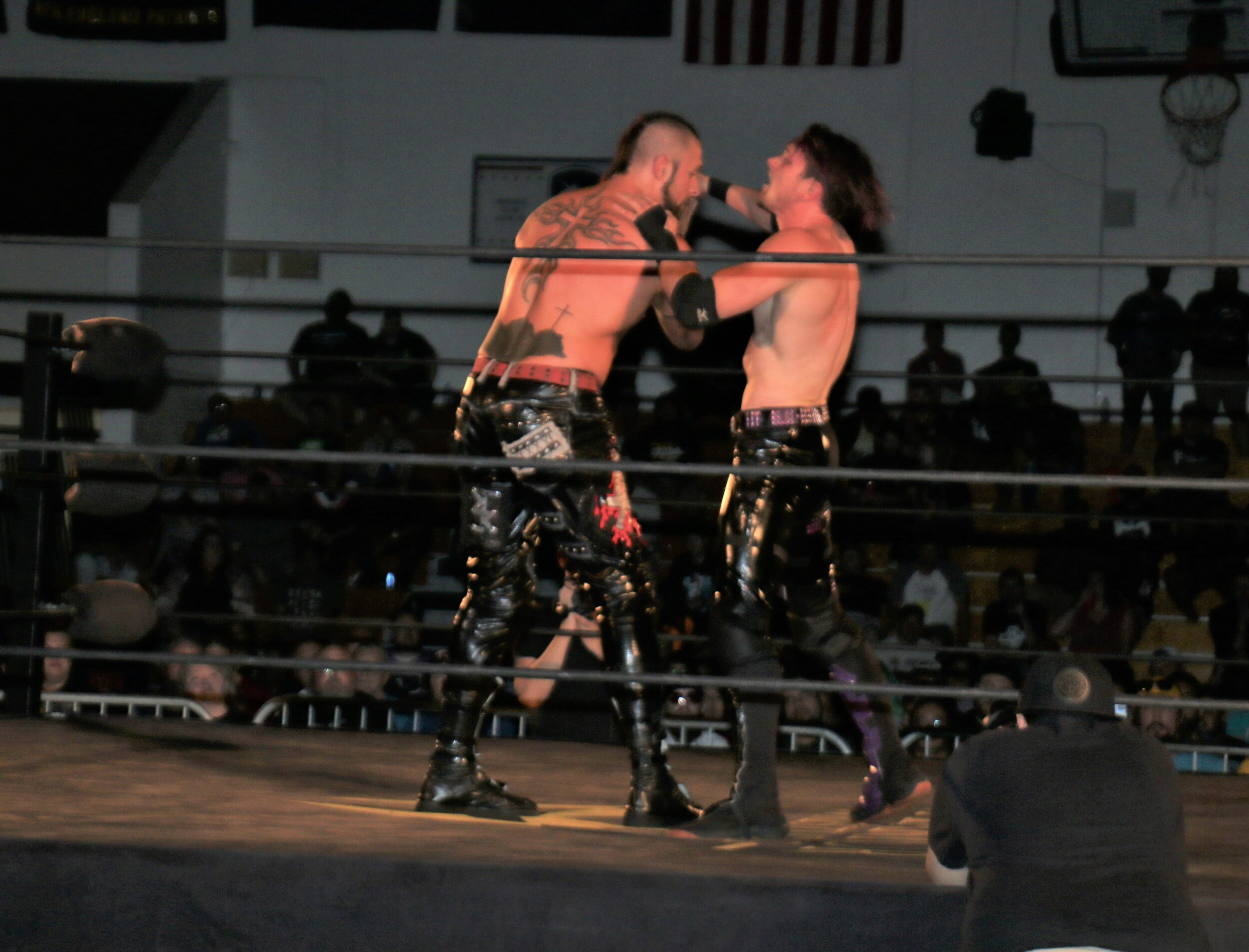 Alex Zayne, right, goes face-to-face with Lance Archer.