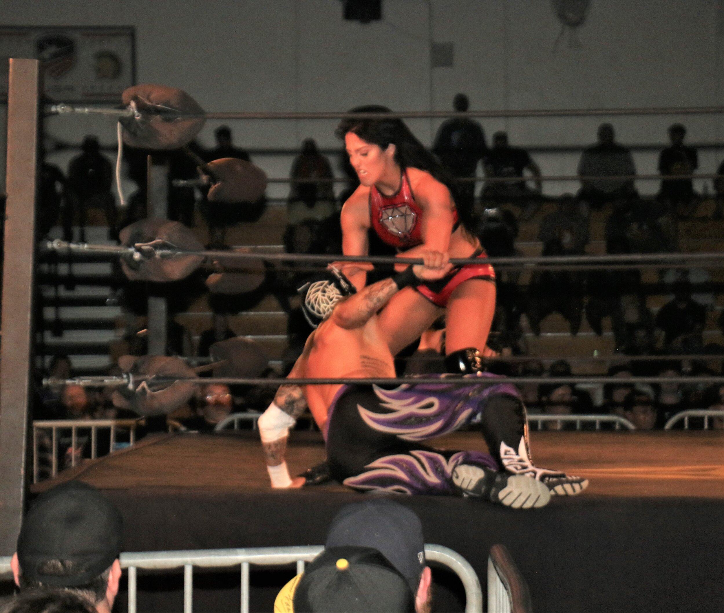 Tessa Blanchard goes after Fenix.