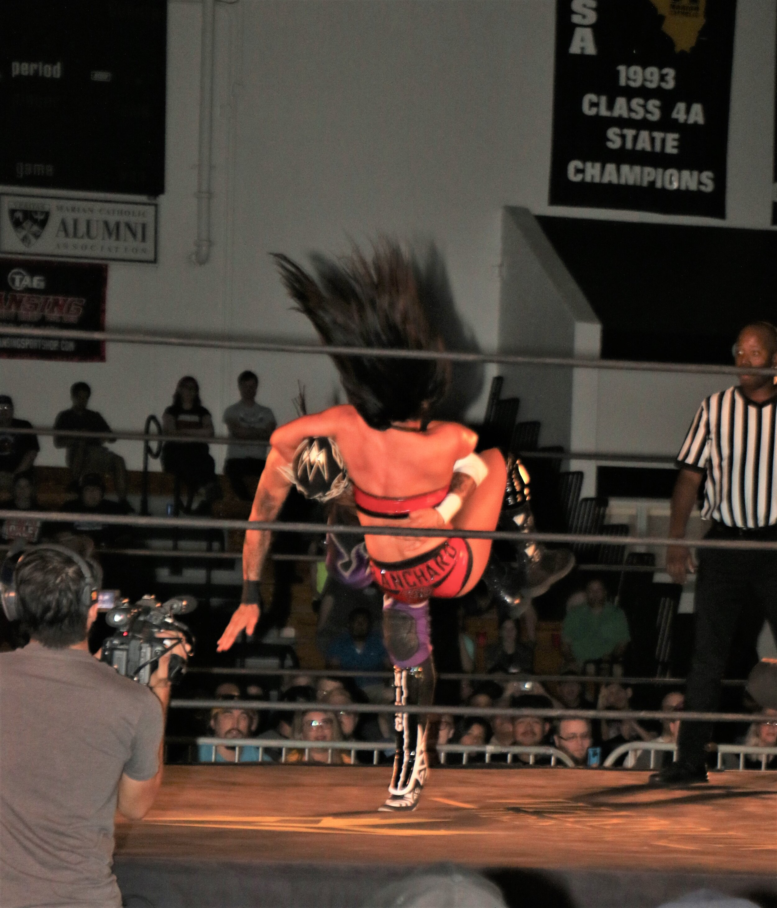 Tessa Blanchard delivers a DDT to Fenix during the tag team match.