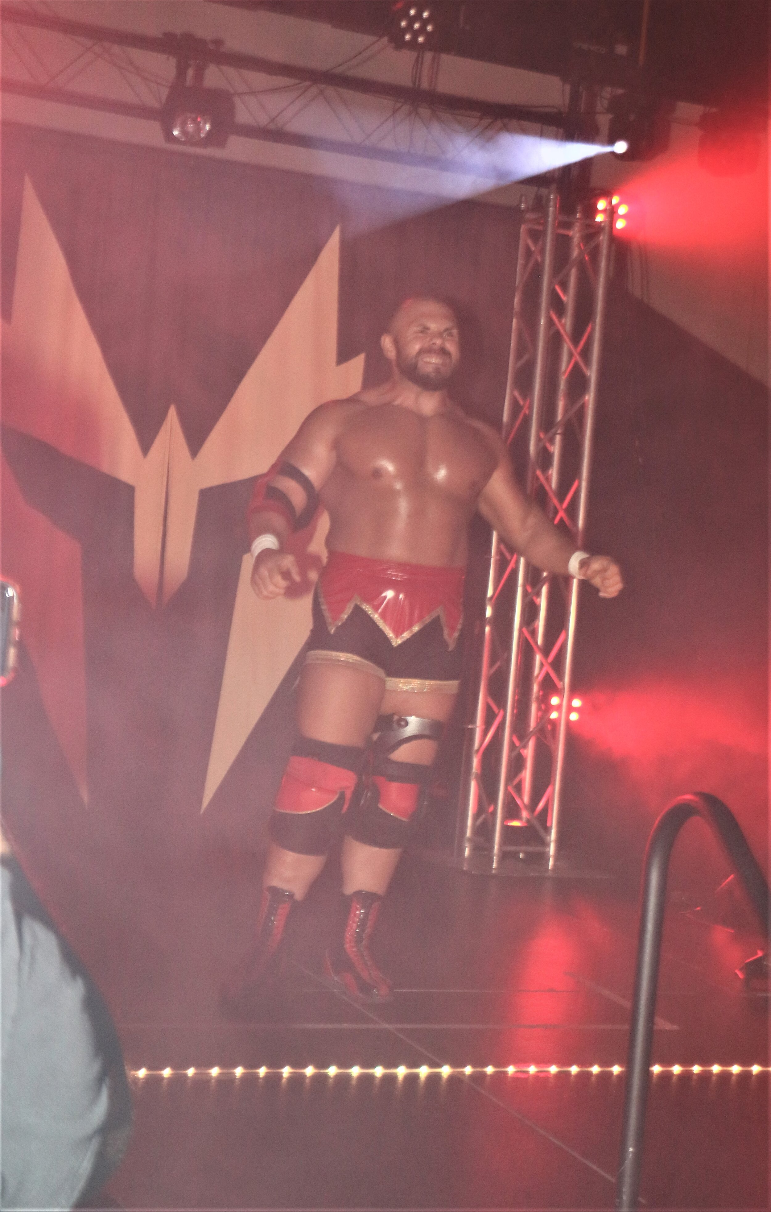 """Unbreakable"" Michael Elgin enters the arena for his Warrior Wrestling Championship match against Brian Cage."