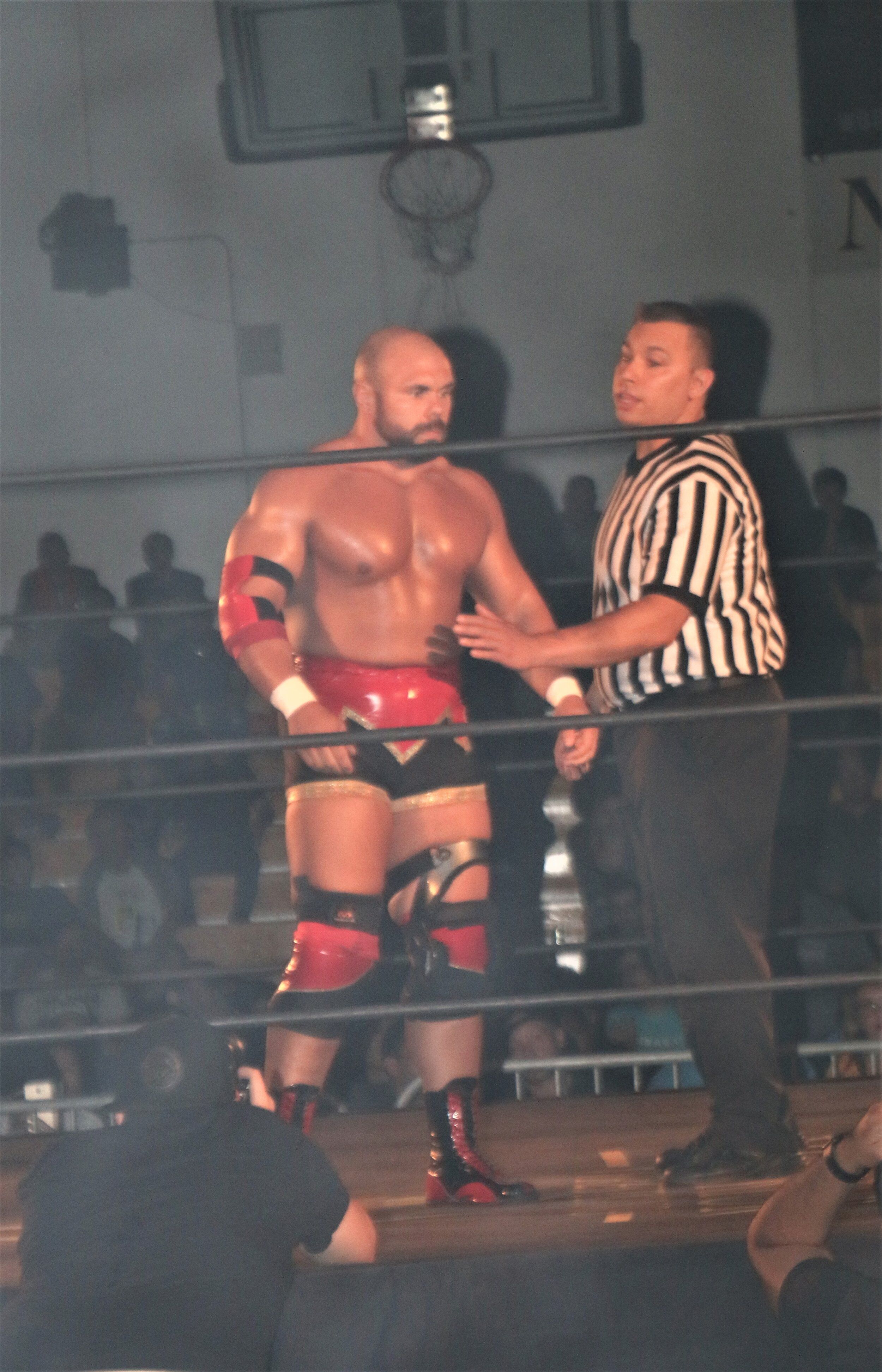 Michael Elgin before the Warrior Wrestling Championship match.