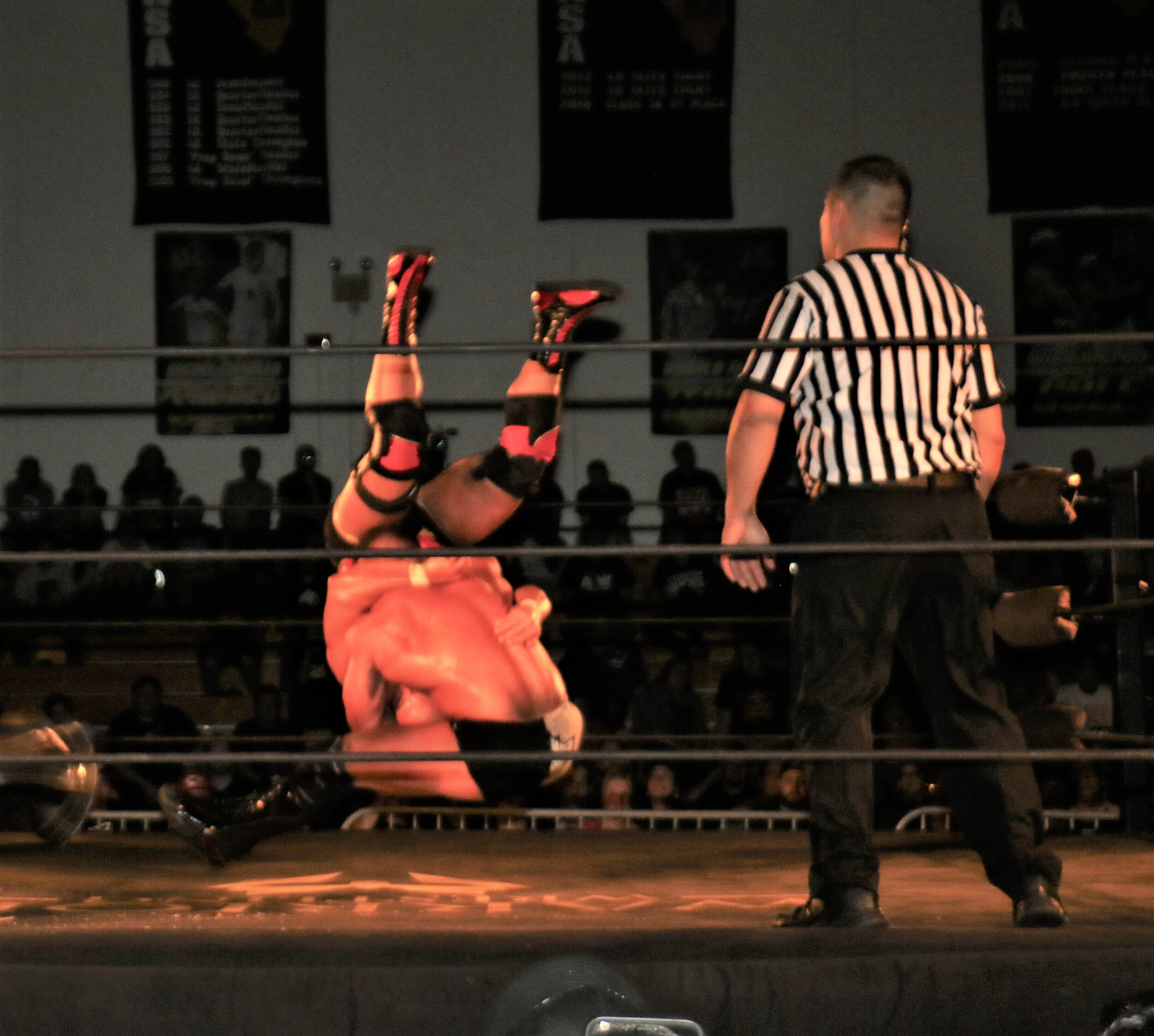 Brian Cage hits the Drill Claw on Michael Elgin, leading to the pin on Michael Elgin to retain the Warrior Wrestling Championship.