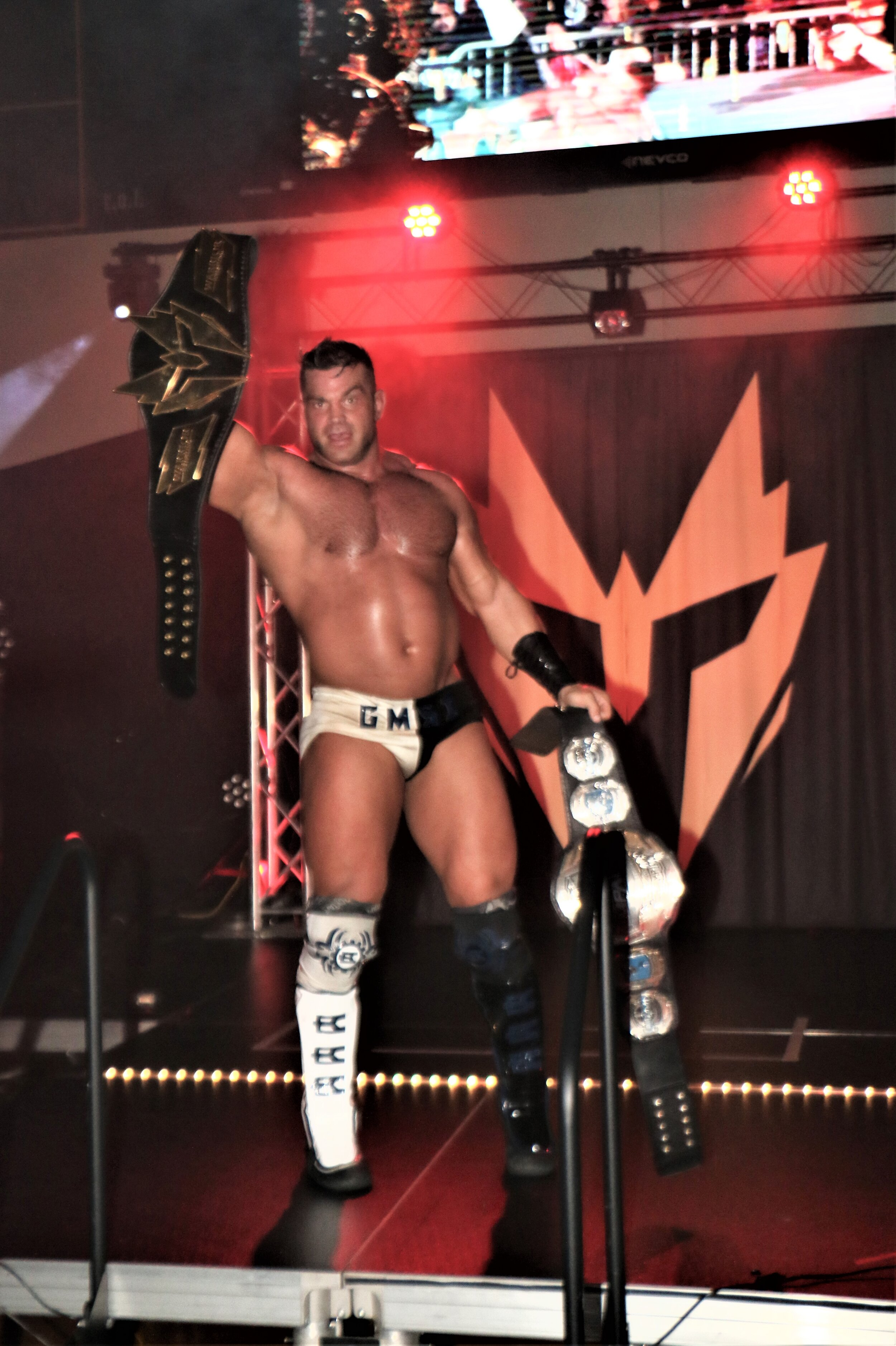Brian Cage celebrates his victory one last time.