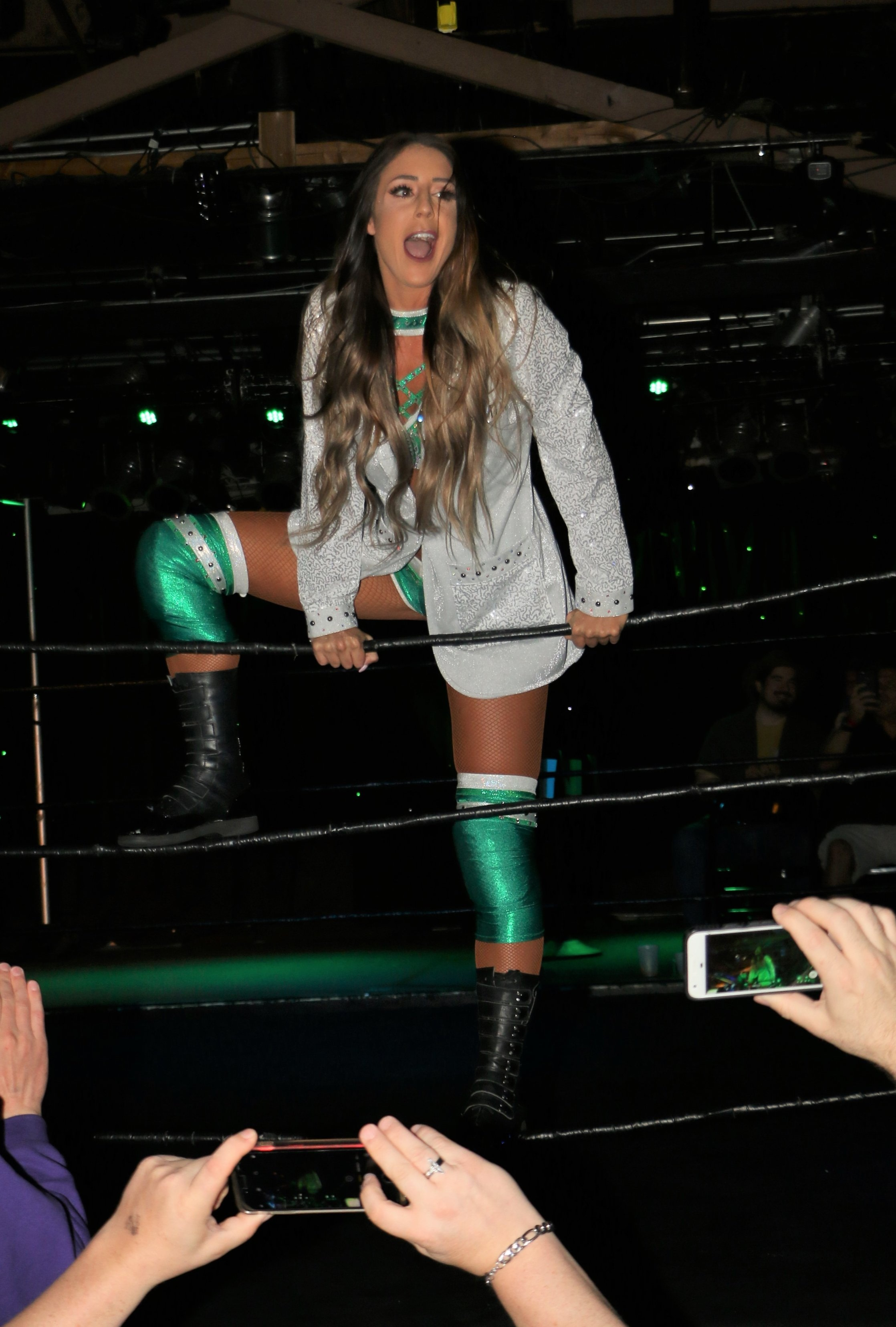 Britt Baker, who has frequented Chicago for companies such as Zelo Pro and Warrior Wrestling, will be wrestling nationally on Wednesday nights for All Elite Wrestling on TNT.  (Photo by Mike Pankow)
