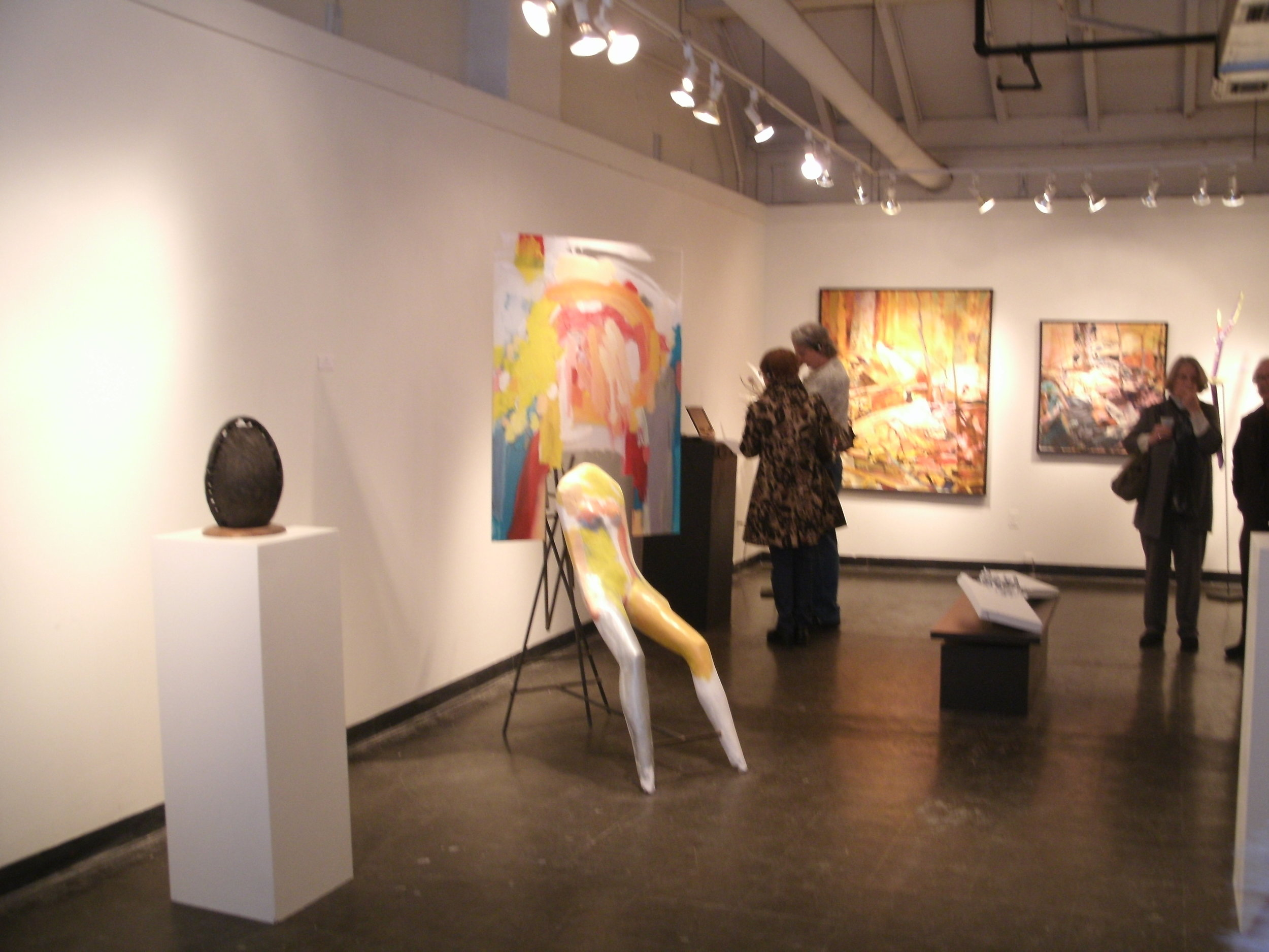 Seated Figure, 3rd St. Gallery, Phila.