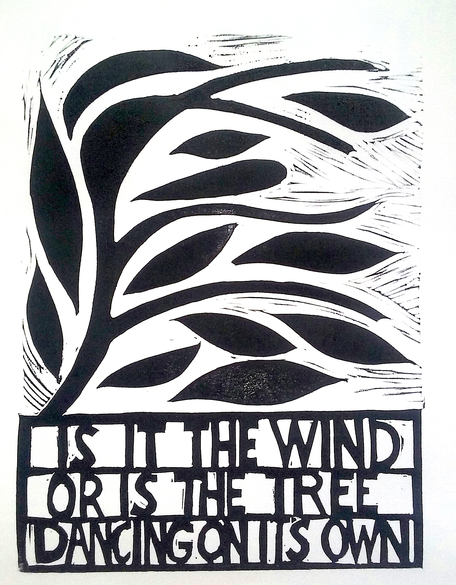 is it the wind/ or is the tree/ dancing on its own