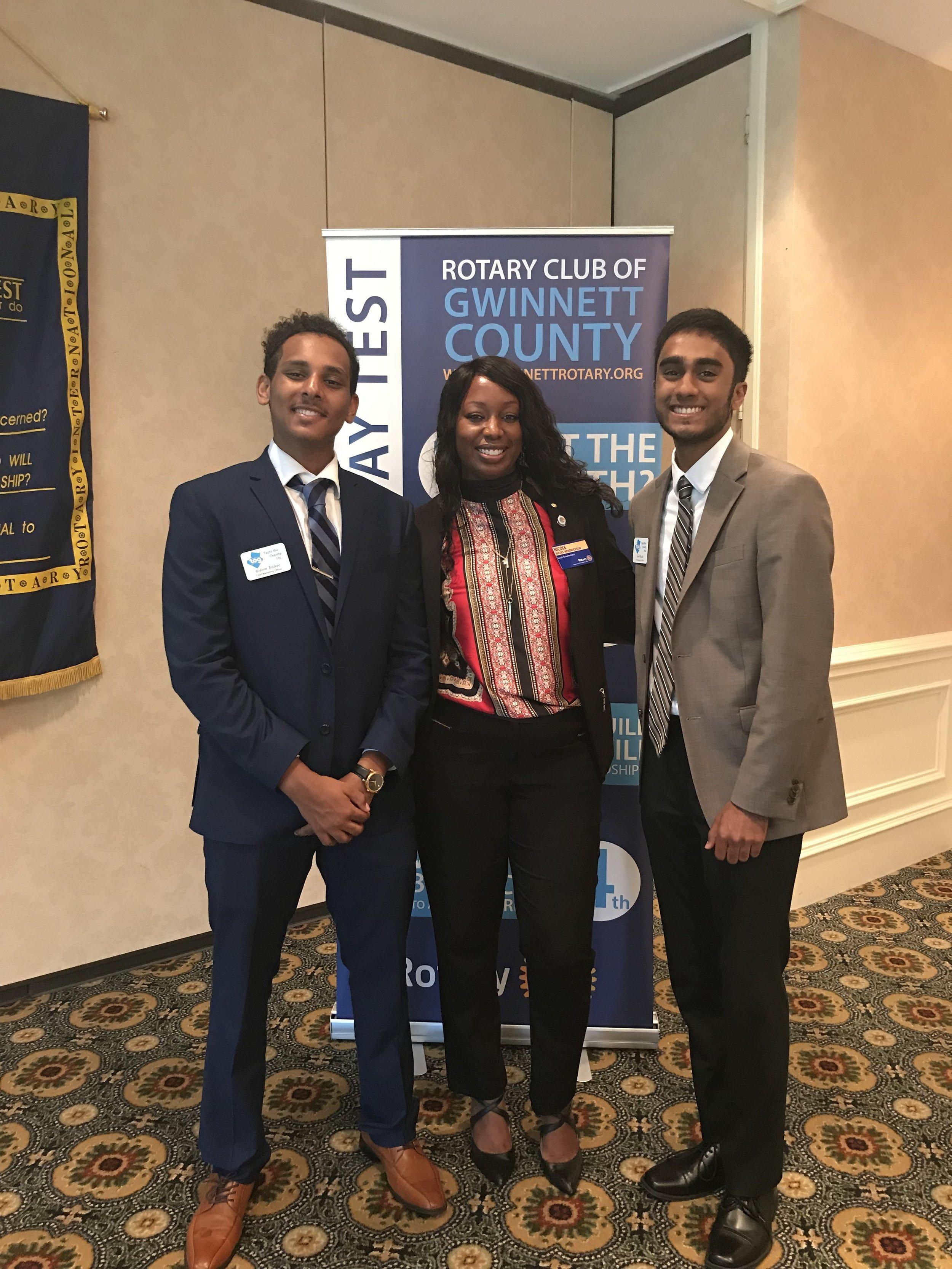 Attending the Gwinnett Rotary with Nicole Hendrickson (Gwinnett County's Community Outreach Director)