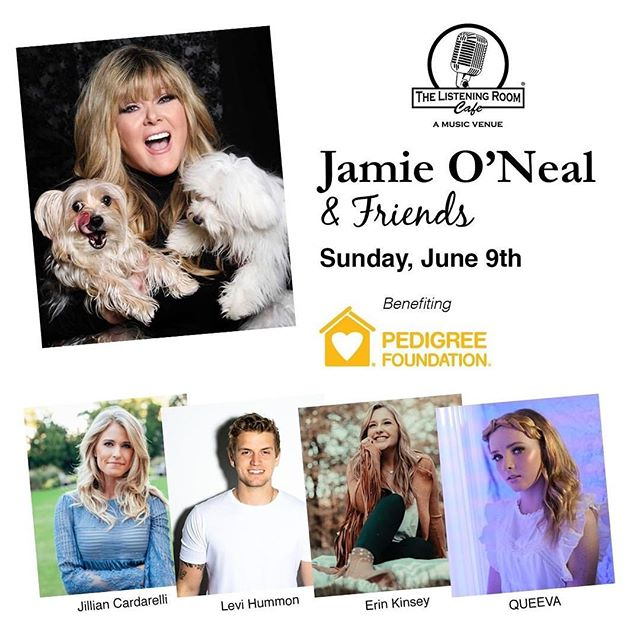 Thrilled to be supporting @pedigreefoundation and the great work they do for 🐶. Come join @jamieonealofficial & friends on June 9th at the @listeningroomcafe in Nashville for a great night of music with Jamie, @jilliancardarelli @levihummon @erinkinseytx & myself!  Hope to see you there!  Tickets at link in bio.