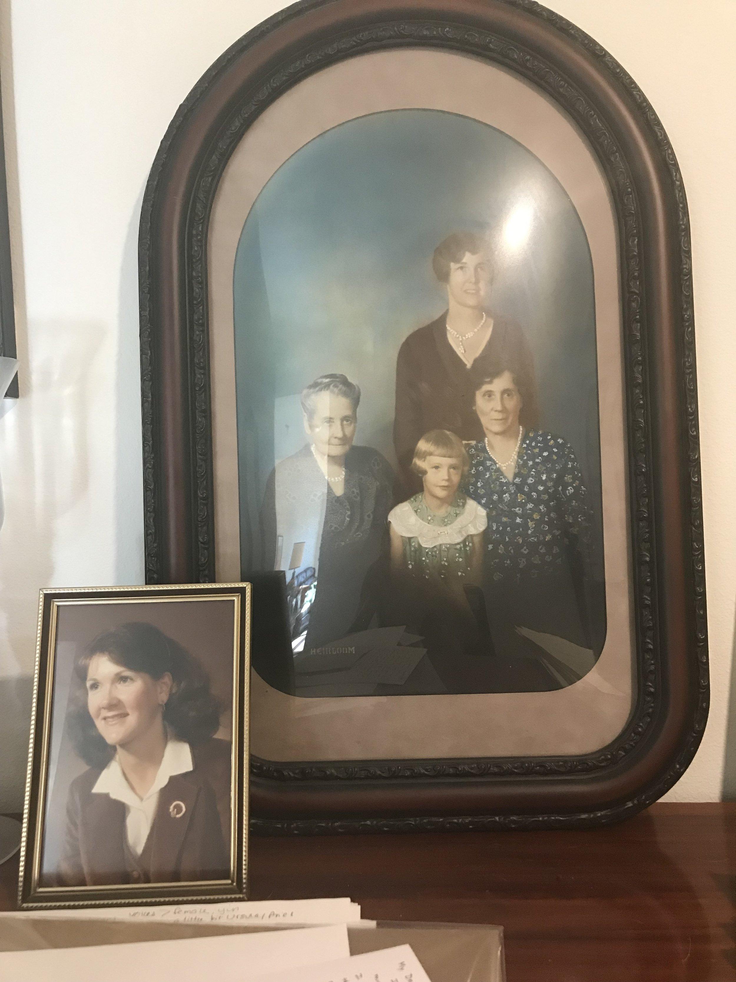 Kaley Lane Eaton's family - Photos placed above Kaley's piano.