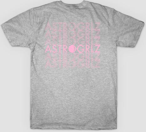 Pink Astro Logo Tee Back