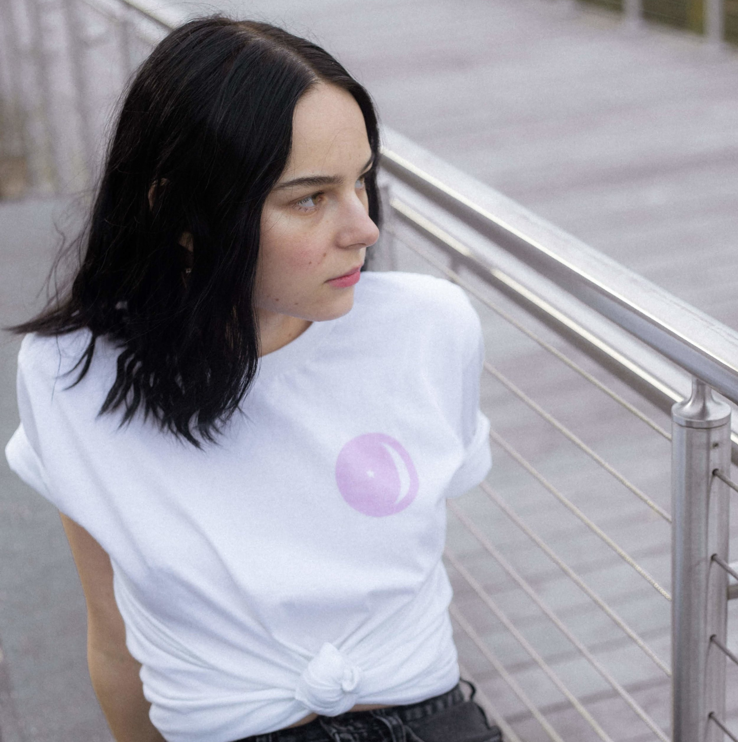 Pink Astro Logo Tee Front