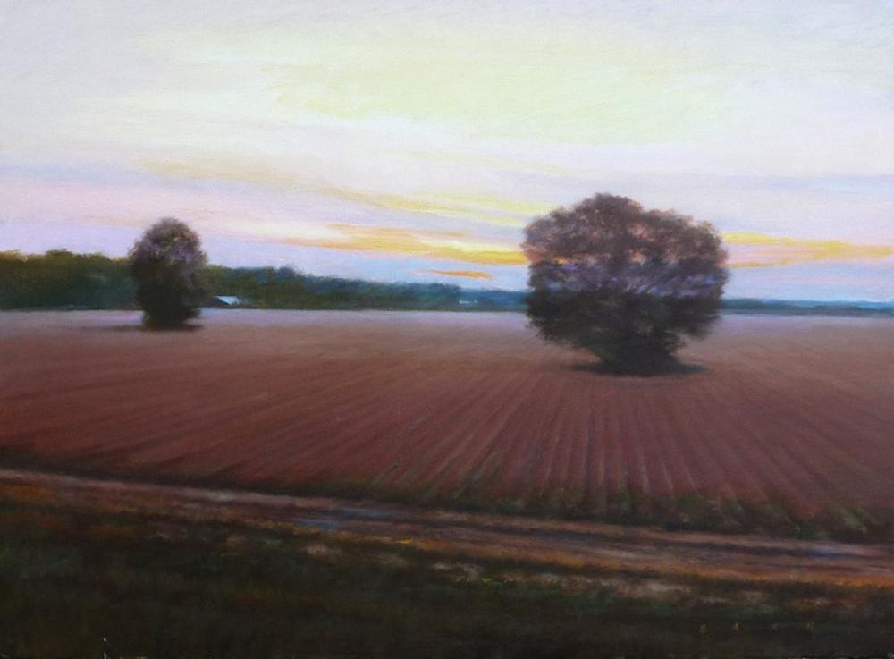 STEPHEN BACH, Calm at Twilight  Oil on Canvas, 18in. x 24 in.
