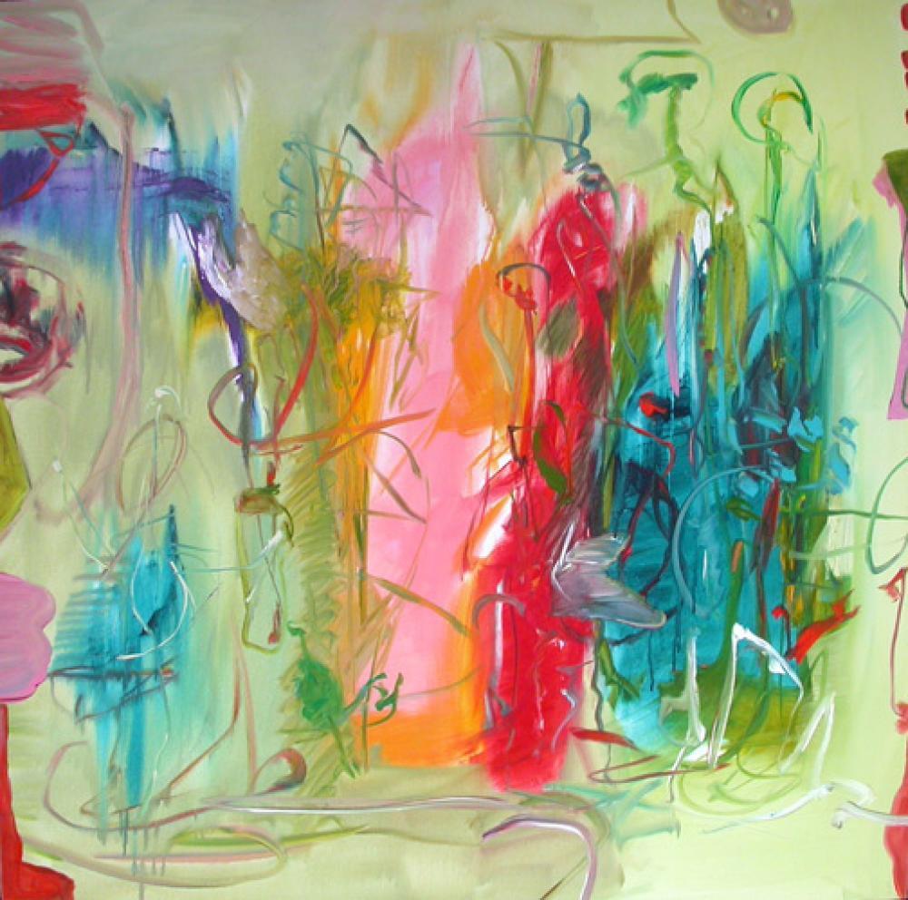 Lamar Briggs, Walk in the Park  Acrylic on Canvas, 50x50 in.