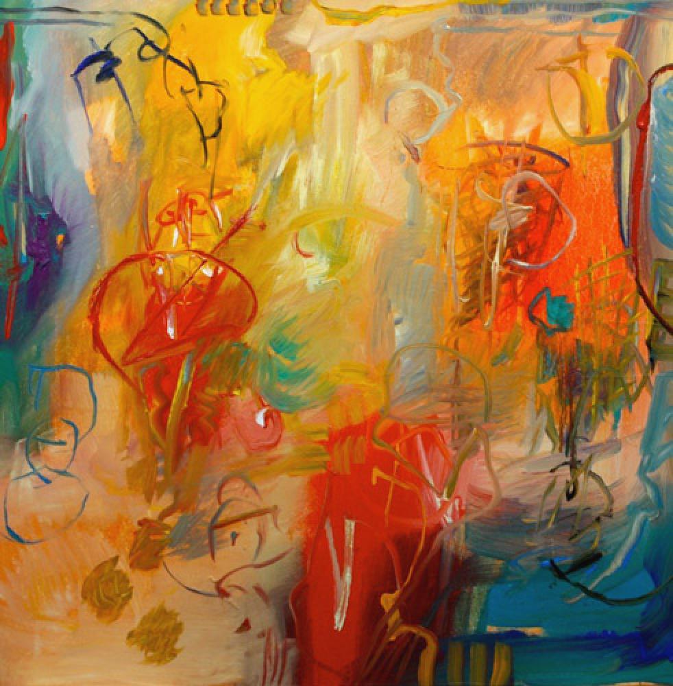 Lamar Briggs, Easy Come - Easy Go  Mixed Media on Canvas, 40in. x 40 in.