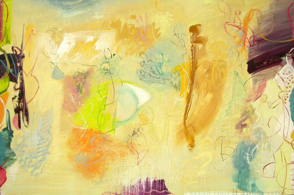 LAMAR BRIGGS, Boogie Down  Acrylic on Canvas, 48in. x 72 in.