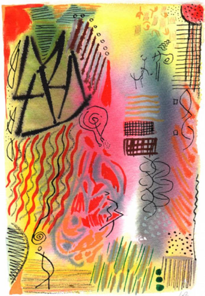 Lamar Briggs, Dream Walk Series No. 4  Watercolor, 10x7 in.