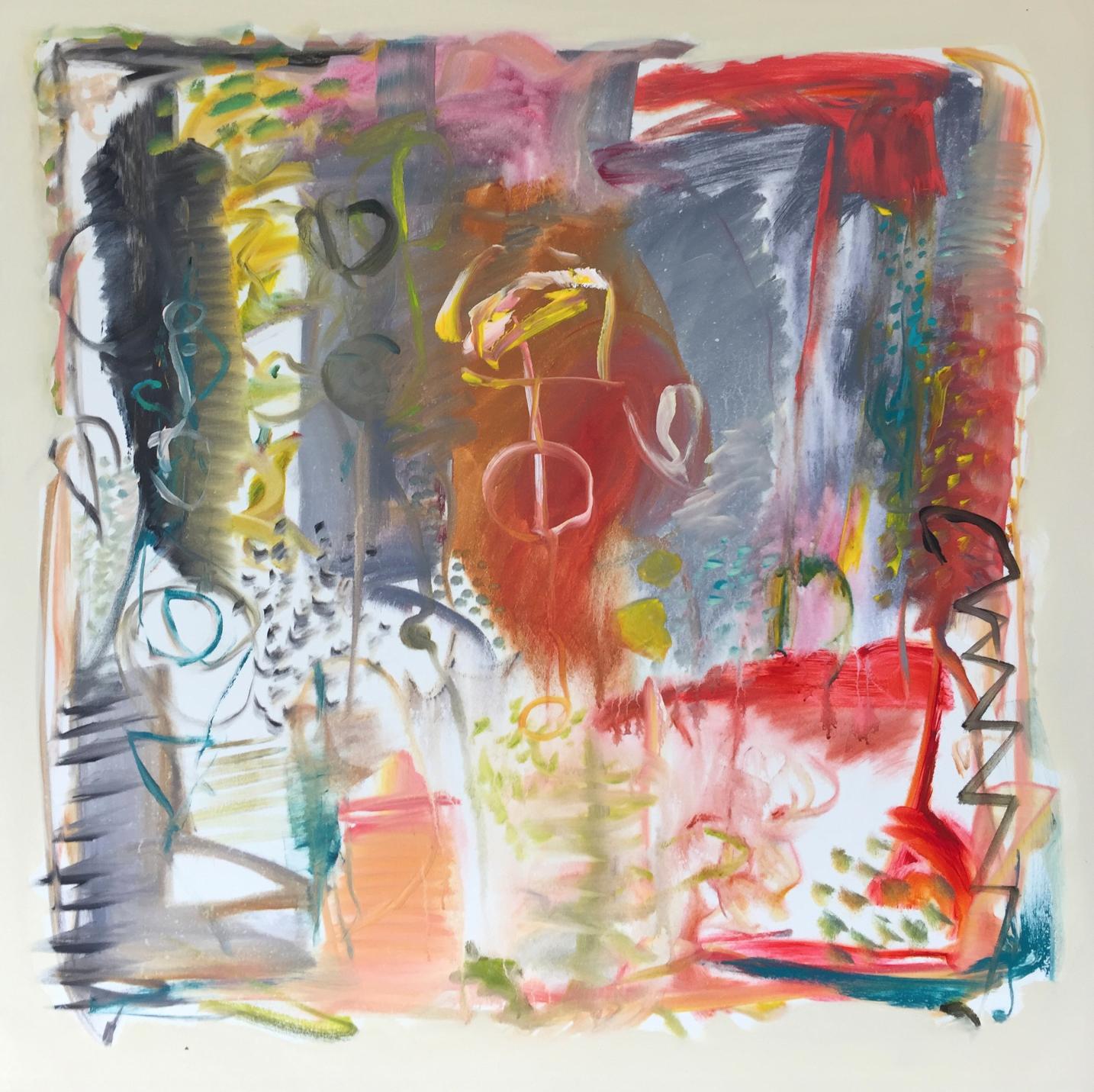 Lamar Briggs, Kyoken V  Acrylic on Canvas, 50x50 in.