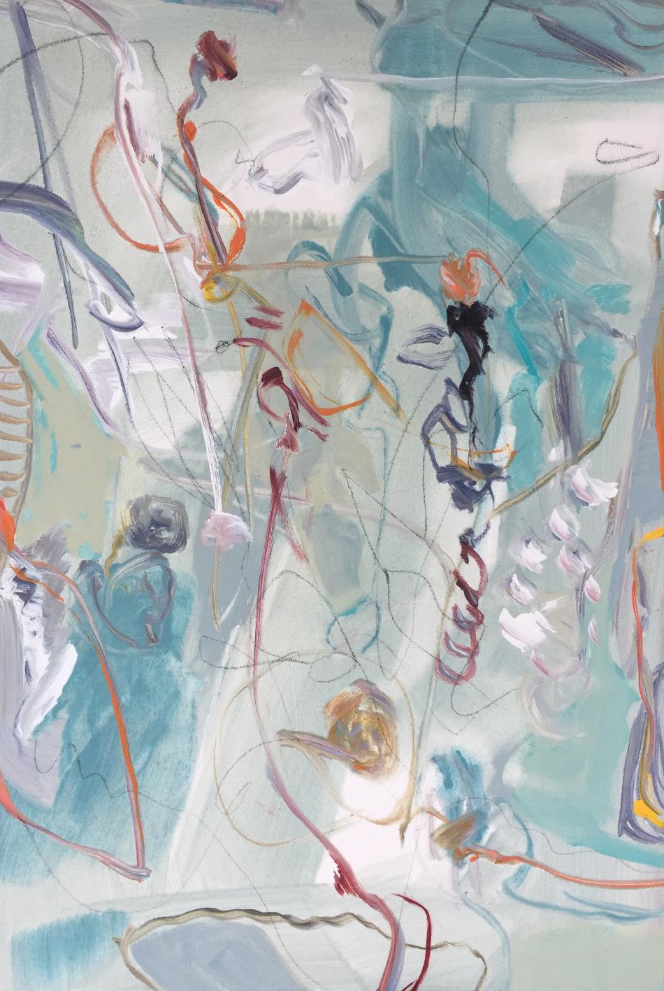 Lamar Briggs, Under the Sea No. 2  Acrylic on Canvas, 30in. x 20 in.