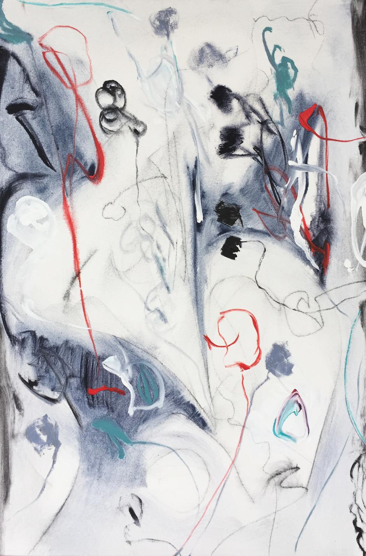 Lamar Briggs, Under the Sea No. 5  Acrylic on Canvas, 30x20 in.