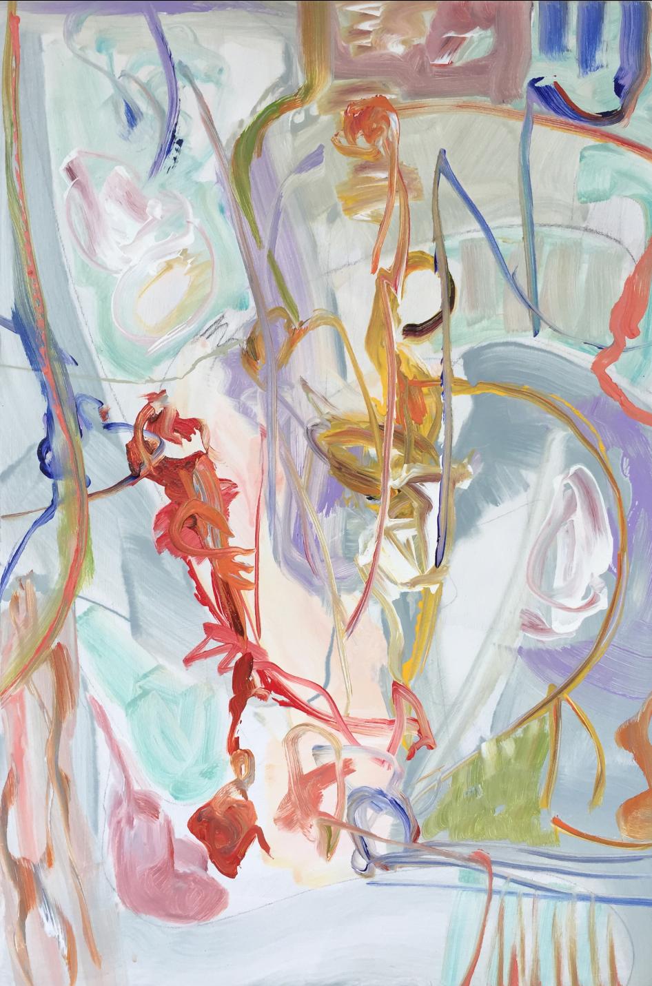 Lamar Briggs, Under the Sea No. 3  Acrylic on Canvas, 30in. x20 in.