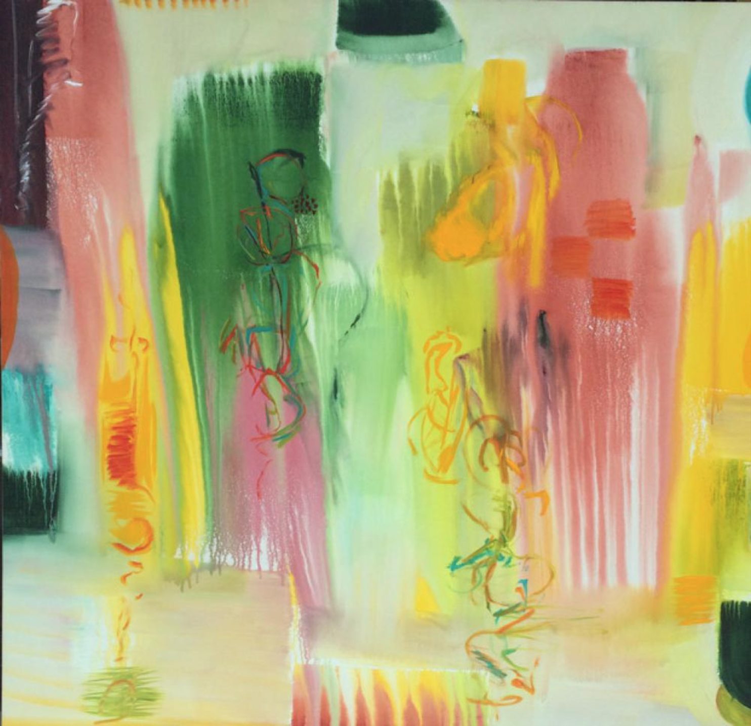 Lamar Briggs, New Day Too  Mixed Mediums, 65in. x 65 in.