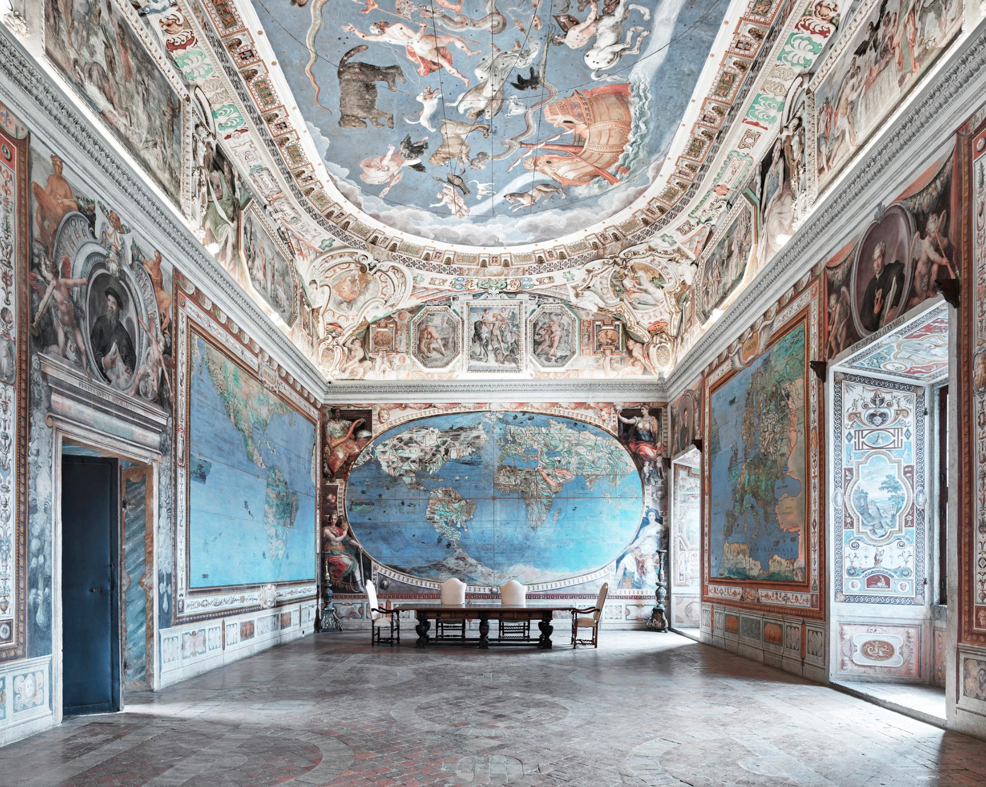 DAVID BURDENY, Map Room, Italy  Archival Pigment Print, 44 in. x 55 in.