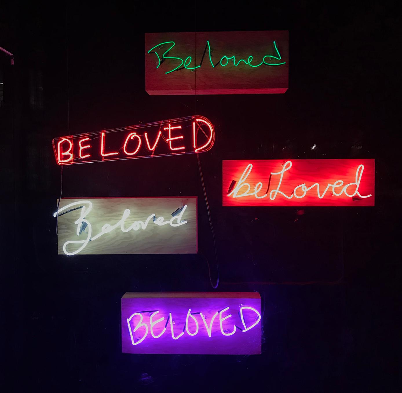 ERIKA DEVRIES, Beloved  Neon, 30 in. x 12 in. x 7 in.