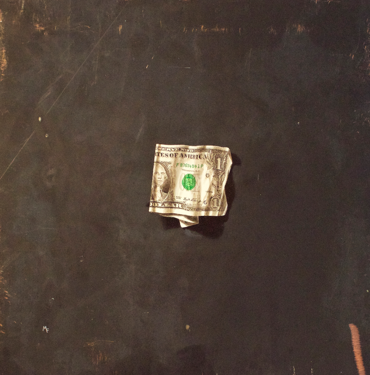 Michael Fitts, Dollar  Oil on Copper, 15 in. x 15 in.