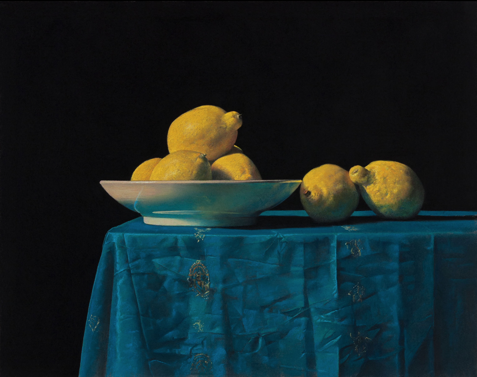 Ron Monsma, Lemons on a Table  Pastel, 15x19 in.