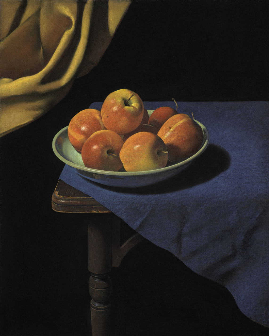 Ron Monsma, Apples on a Blue Cloth  Pastel, 16x20 in.