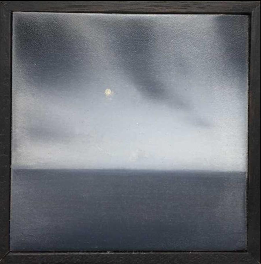 Matthew C. Metzger, The Sea VI  Oil on Wood, 4x4 in.