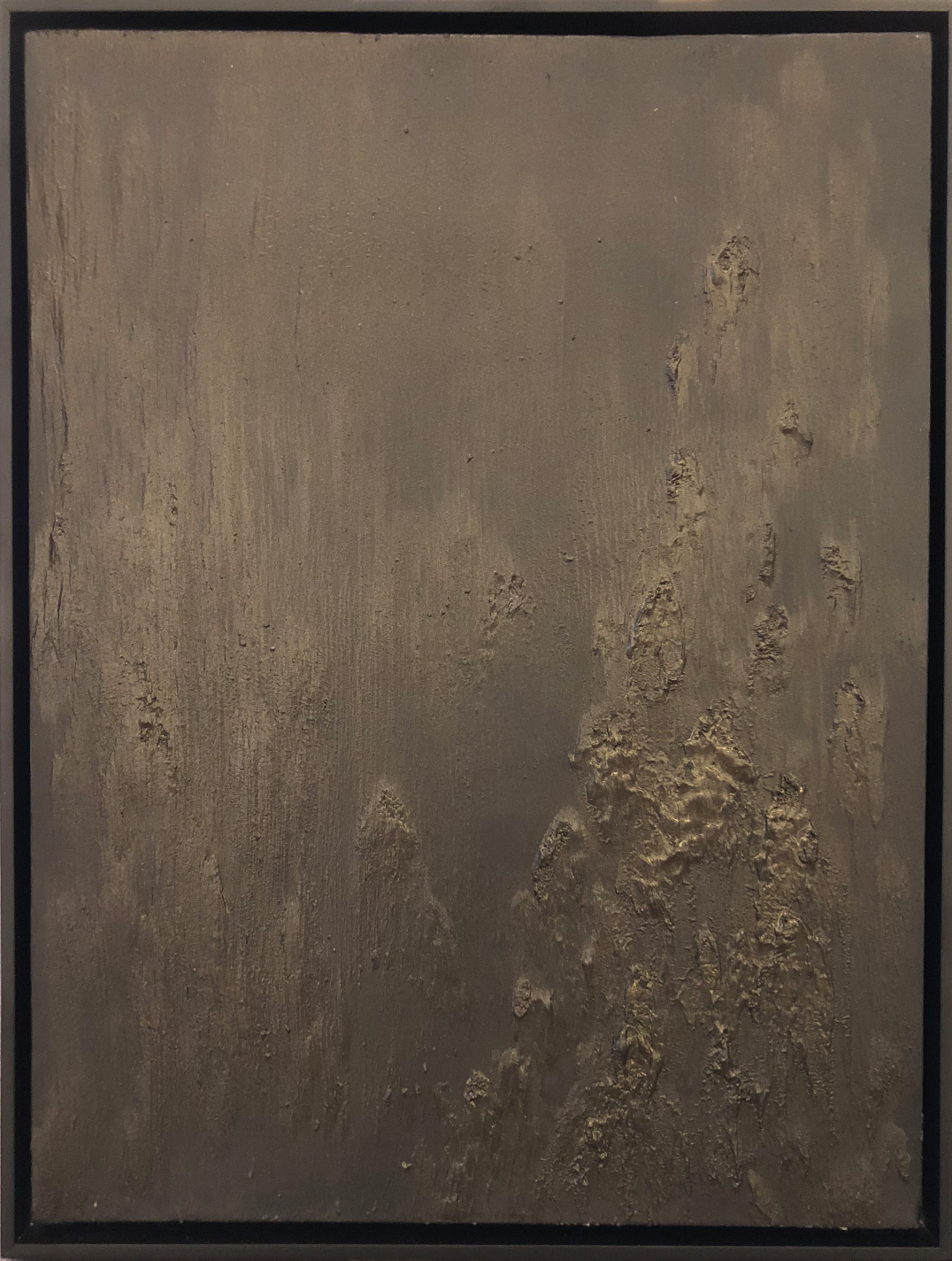 Matthew C. Metzger, American Darkness III  Oil, Iron & Bronze on Canvas, 25x19 in.
