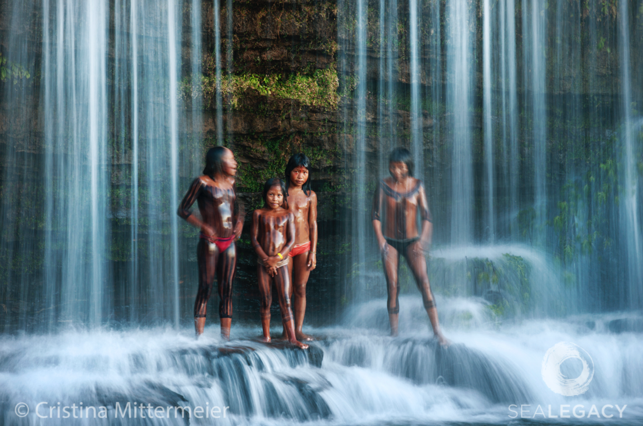 Cristina Mittermeier, Waterfall Bath  Digital Chromogenic Print on William Turner Cotton, 20x30 in.