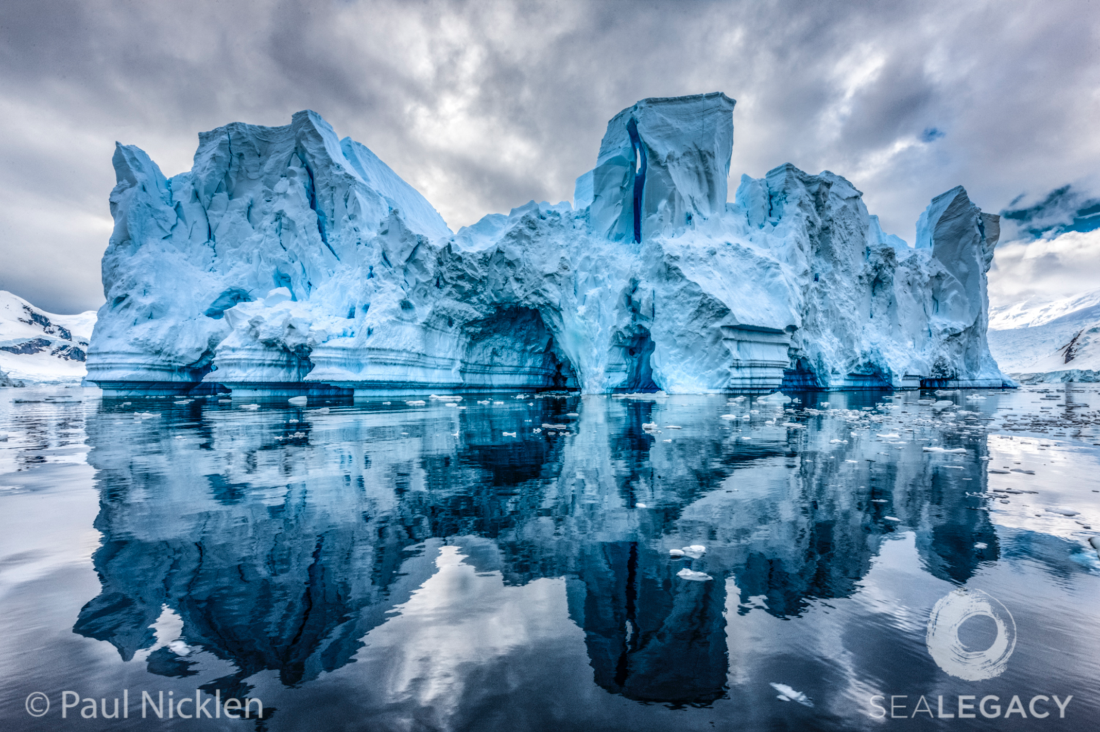 Paul Nicklen, Ephemeral Palace  Dye Sublimation Print on Metal, 60x40 in.
