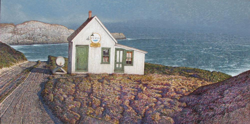 James O'Neil, Fitzhenry's Store  Acrylic on Panel, 24x48 in.