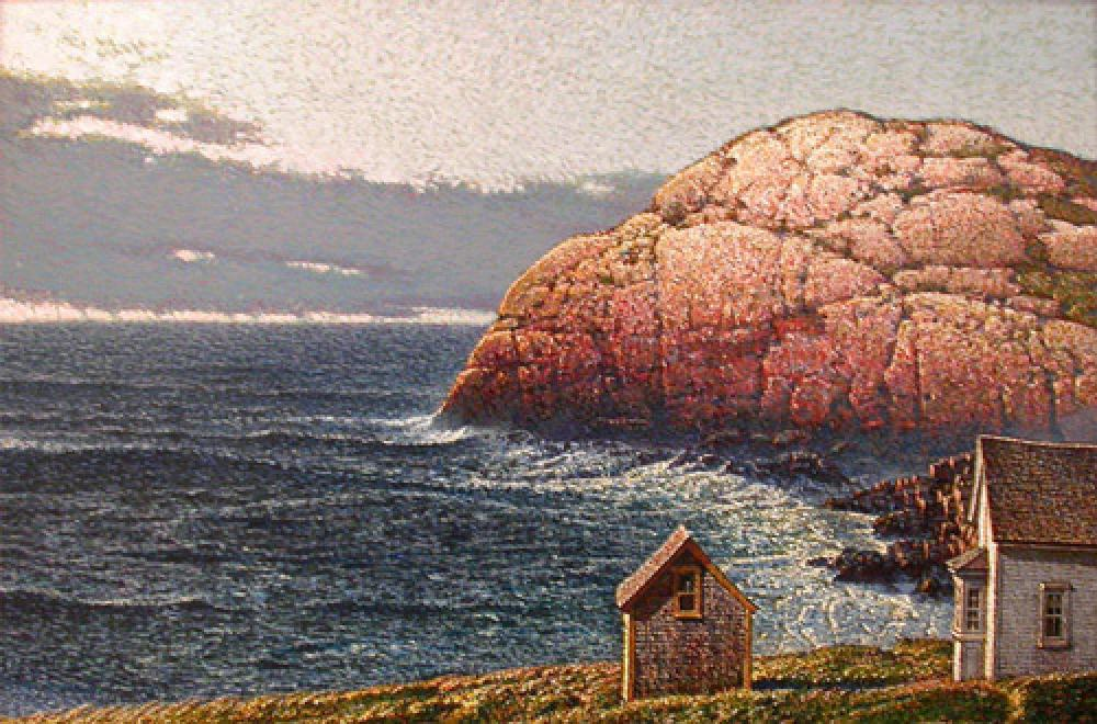 James O'Neil,Portuguese Cove  Acrylic on Panel, 12x16 in.