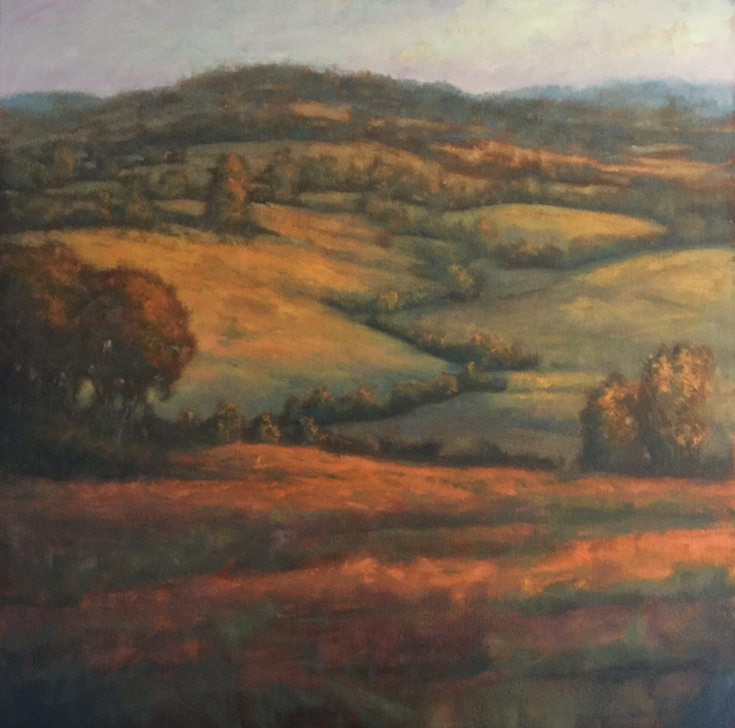 MICHAEL ORWICK, Rolling Fields  Oil on Canvas, 36in x36 in.