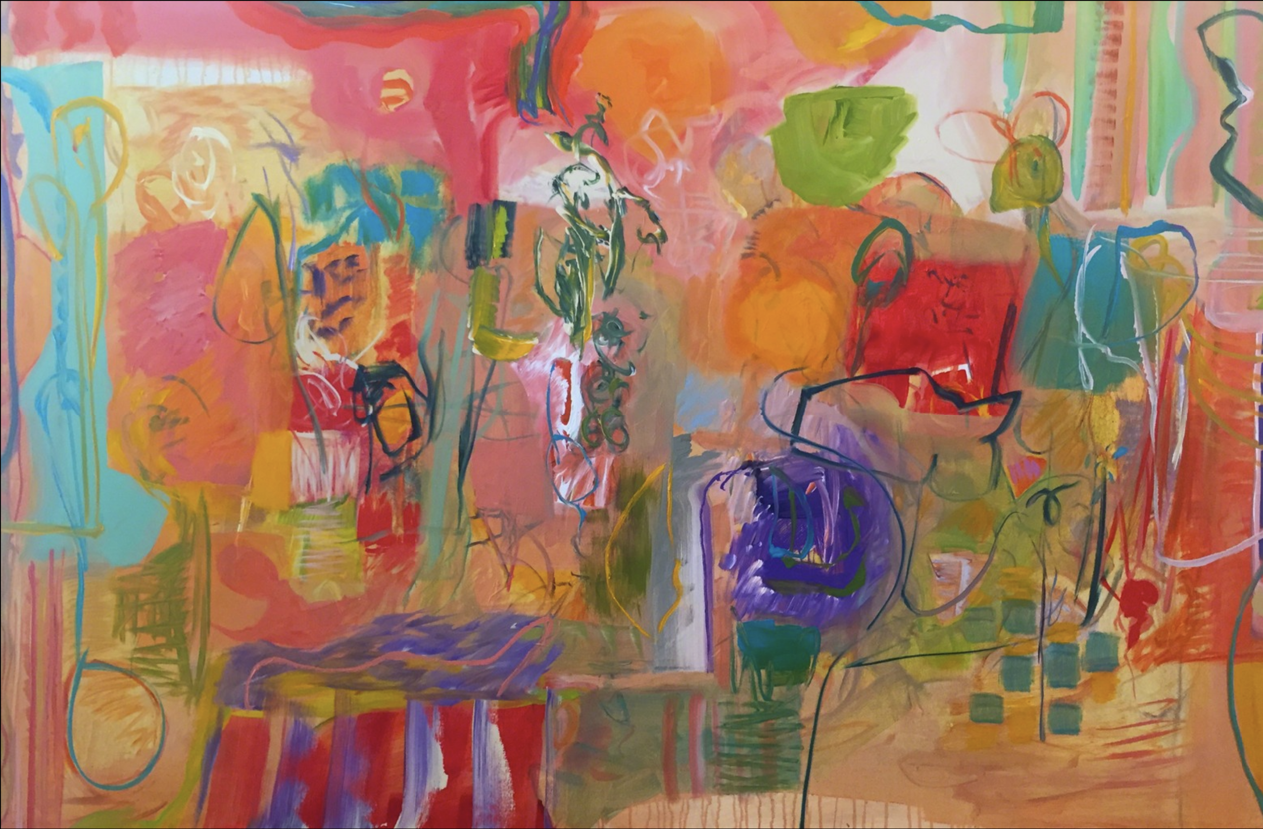 Lamar Briggs, The Way to Rio  Mixed Media on Canvas, 48x72 in.