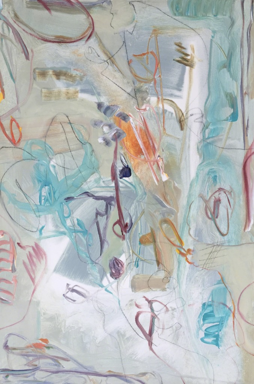 Lamar Briggs, Under the Sea No.1  Acrylic on Canvas, 30in. x 20 in.