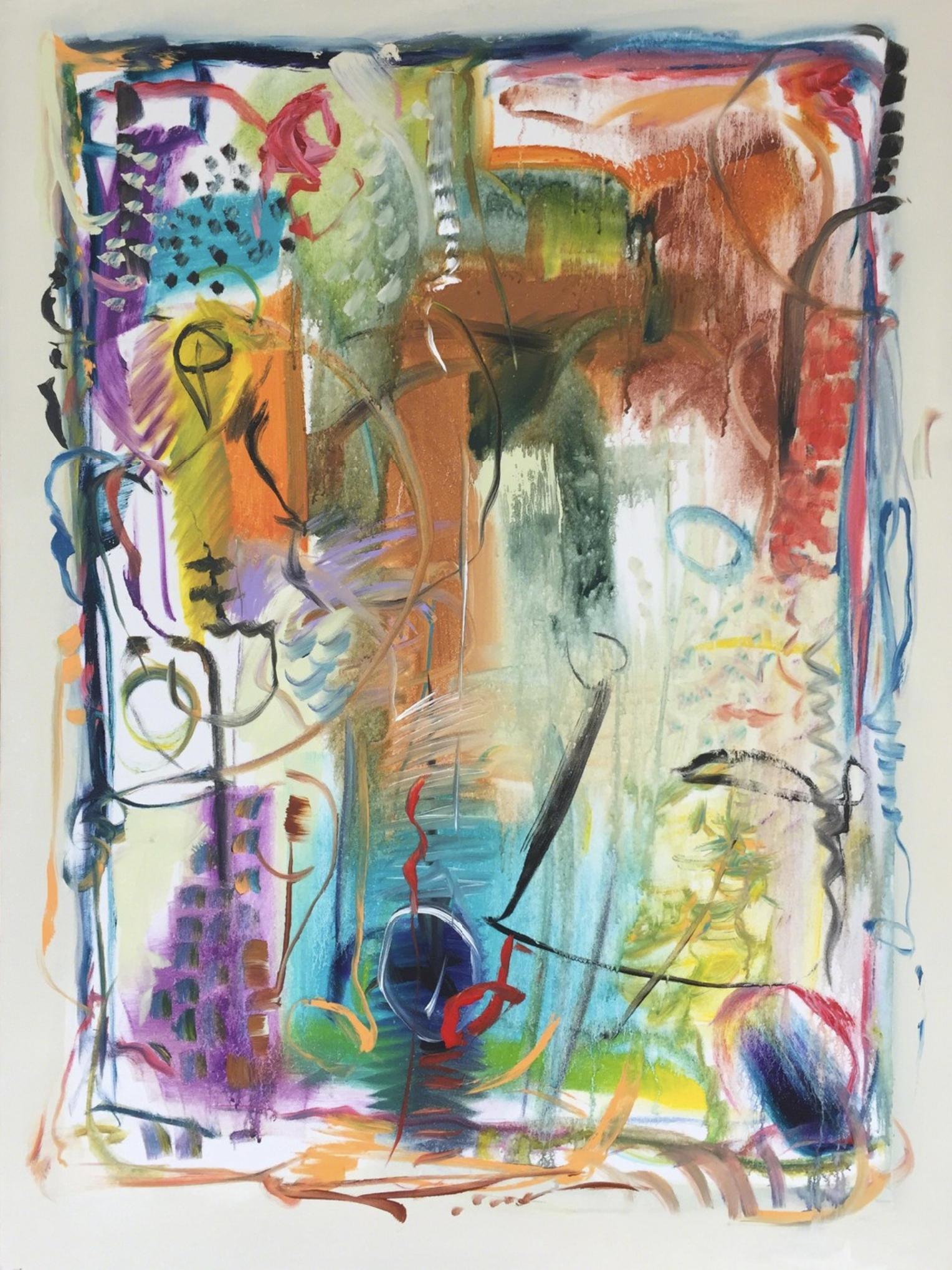 Lamar Briggs, Kyoken VIII  Acrylic on Canvas, 48x36 in.
