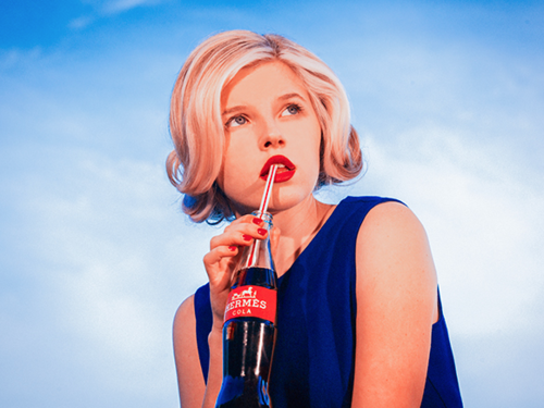 Tyler Shields, Hermes Cola  Digital Chromogenic Print, 45x60 in.