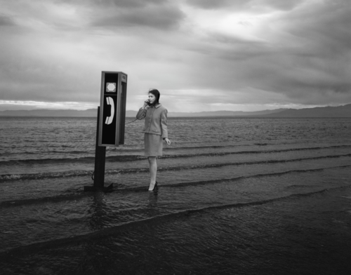 Tyler Shields, Pay Phone  Digital Chromogenic Print, 60x48 in.