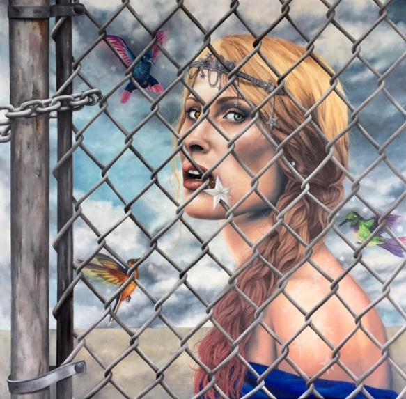 JOHANNE CULLEN, Fairy Queen  Oil on canvas, 40 in. x 40 in.