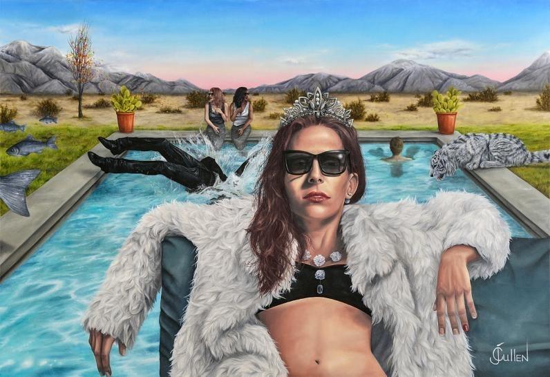 JOHANNE CULLEN, Dolce Vita  Oil on canvas, 40 in. x 58 in.