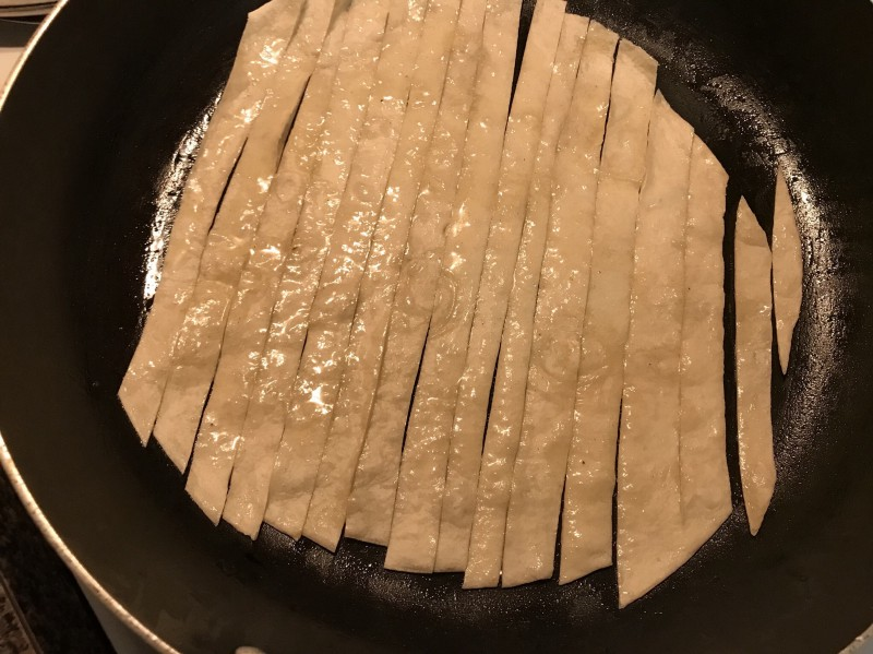*If using the butter and seasonings alternative, coat each strip with the melted butter and seasonings blend, then place them in the pan. No oil needed. These may cook a lot faster, so keep watch!