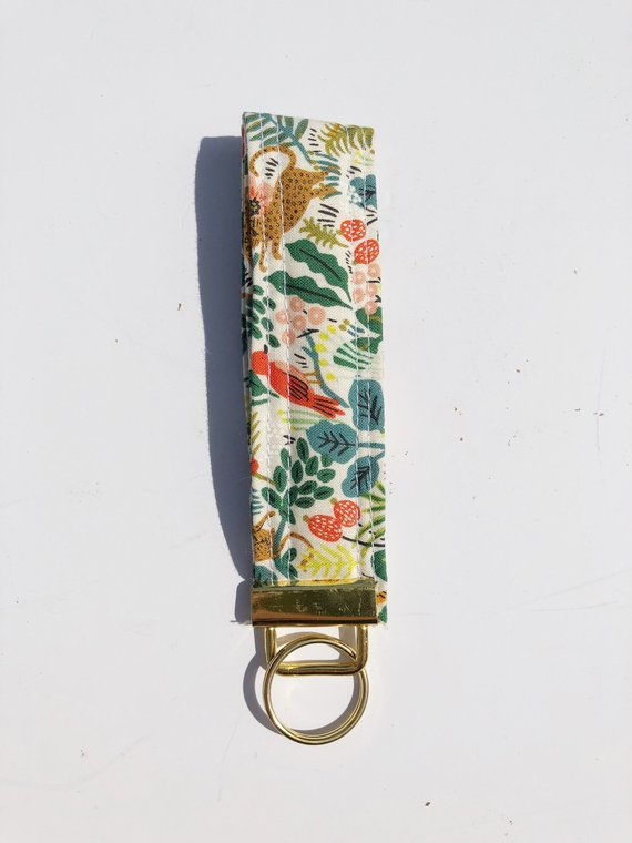 1. Menagerie Rifle Paper Co Key Fob, Meesh Quilts - $6.40We love this affordable, unique handmade piece from Meesh Quilts, a Duluth, Ga based quilt maker.