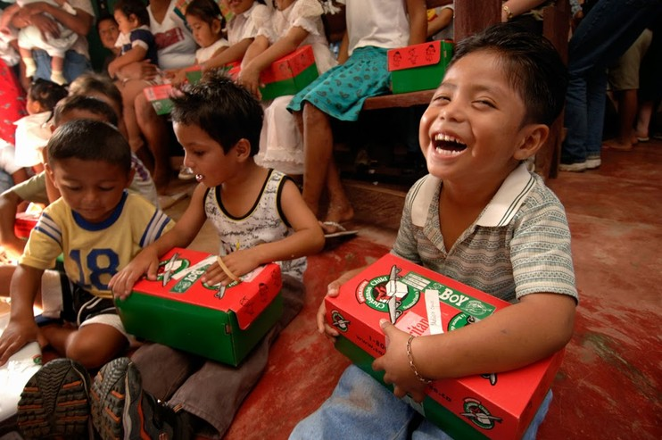 Operation Christmas Child - Every November we partner with