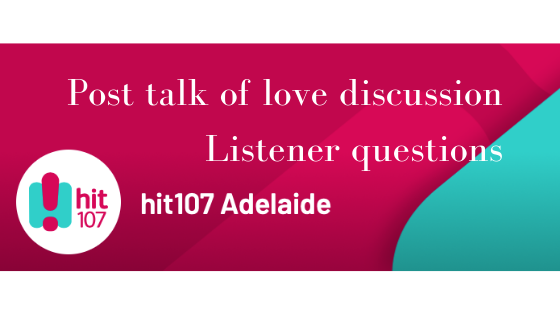 Post talk of love discussion Listener questions